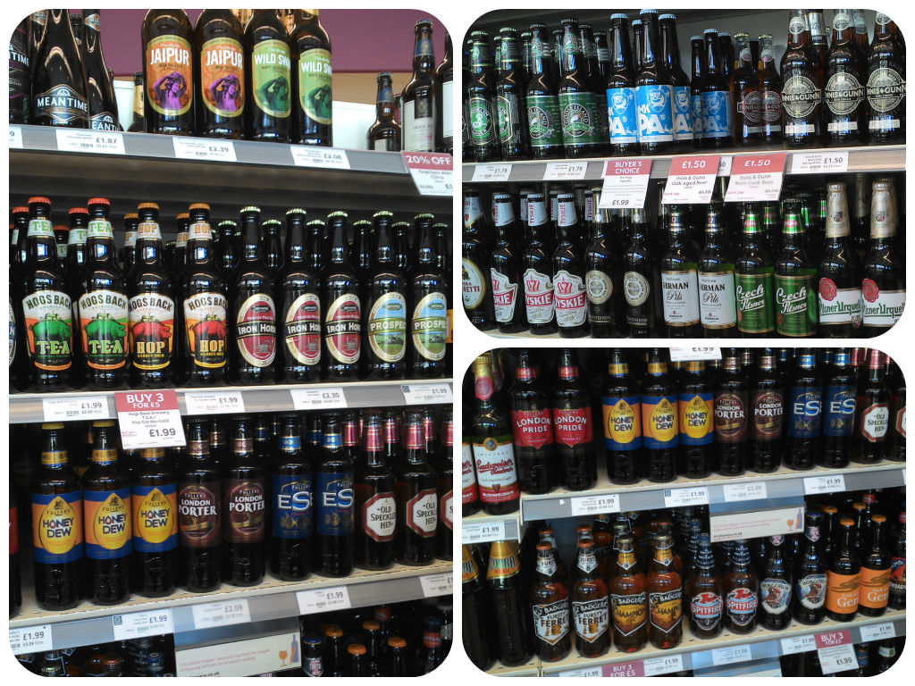 Waitrose- a simpler way of displaying, by brewer, bottle size, no confusing p.o.s